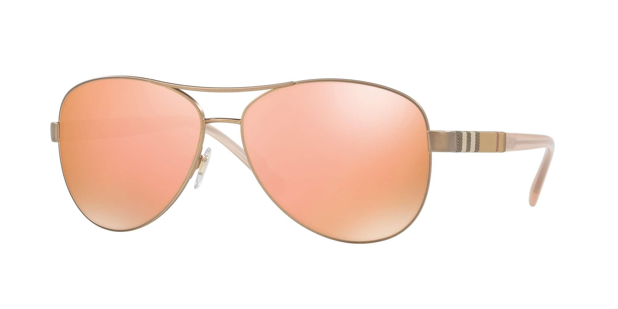 MATTE GOLD / BROWN MIRROR ROSE GOLD lenses