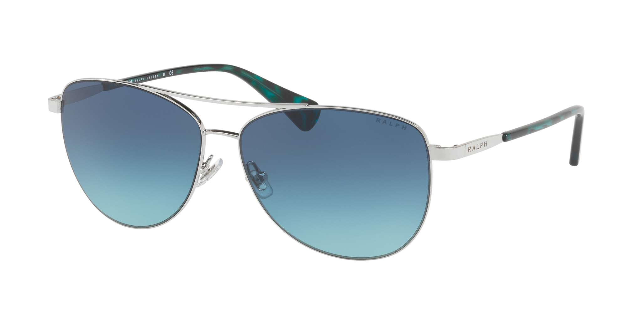 SILVER / BLUE TEAL GRADIENT lenses