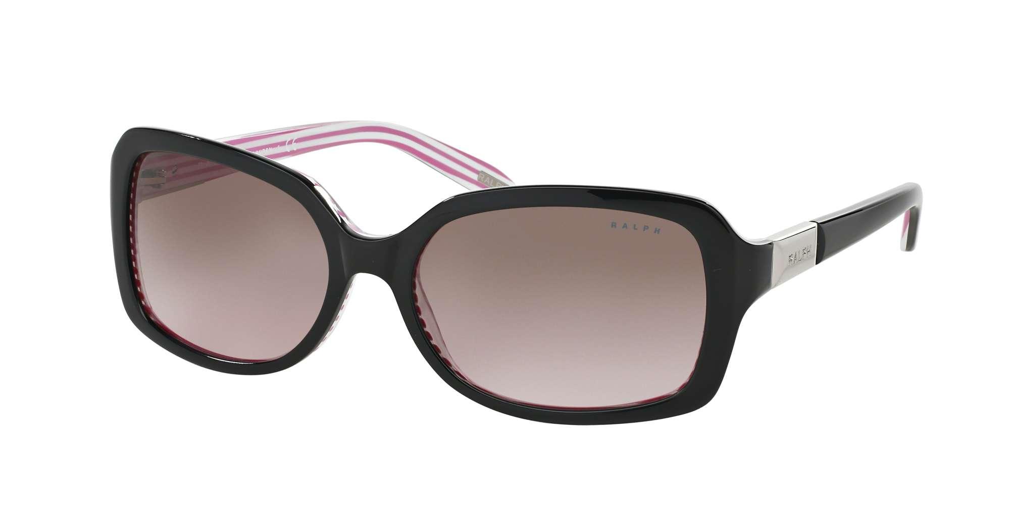 BLACK/PINK STRIPE / BROWN GRADIENT PINK lenses