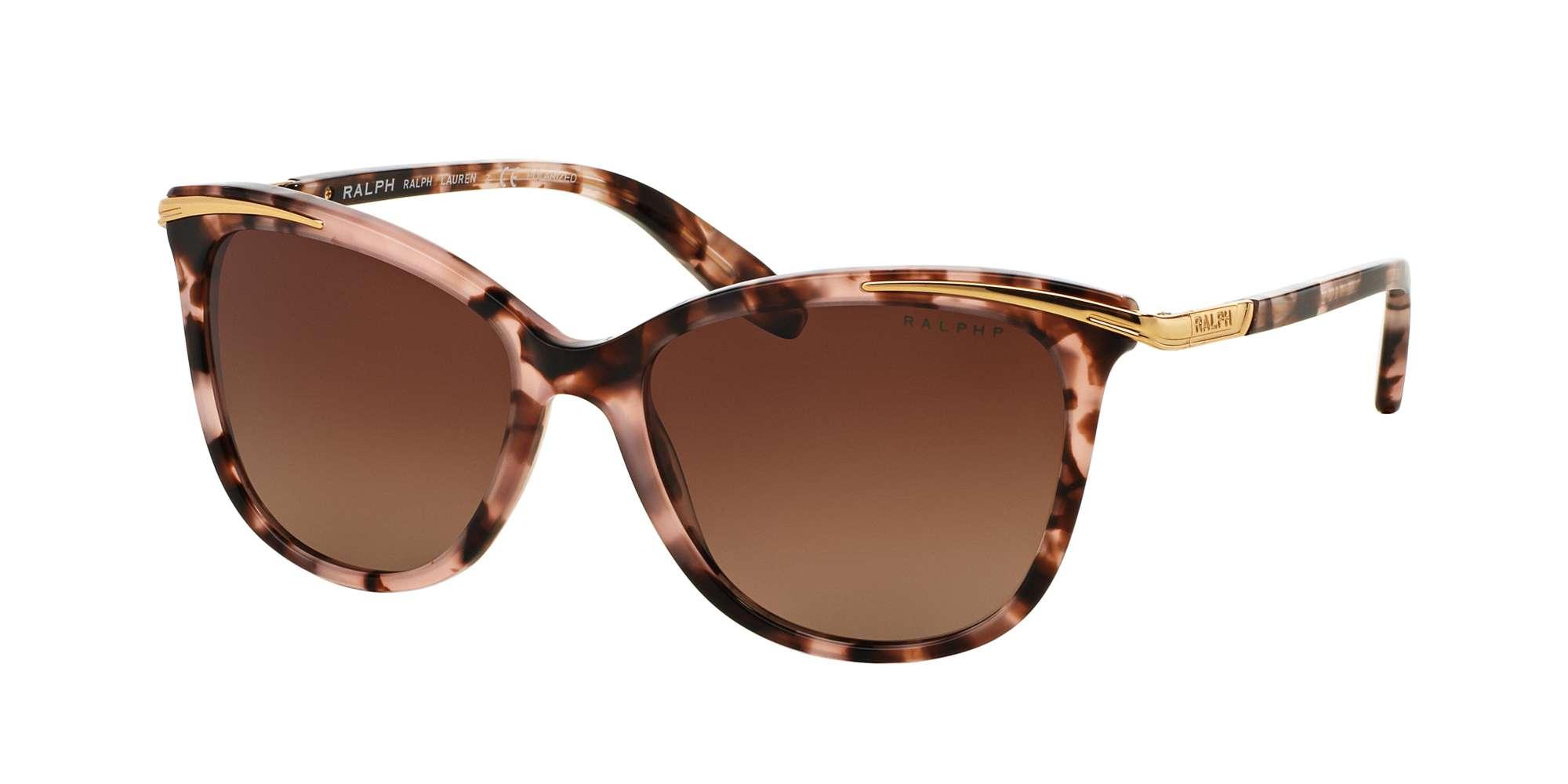 PINK TORTOISE / BROWN GRADIENT POLARIZED lenses