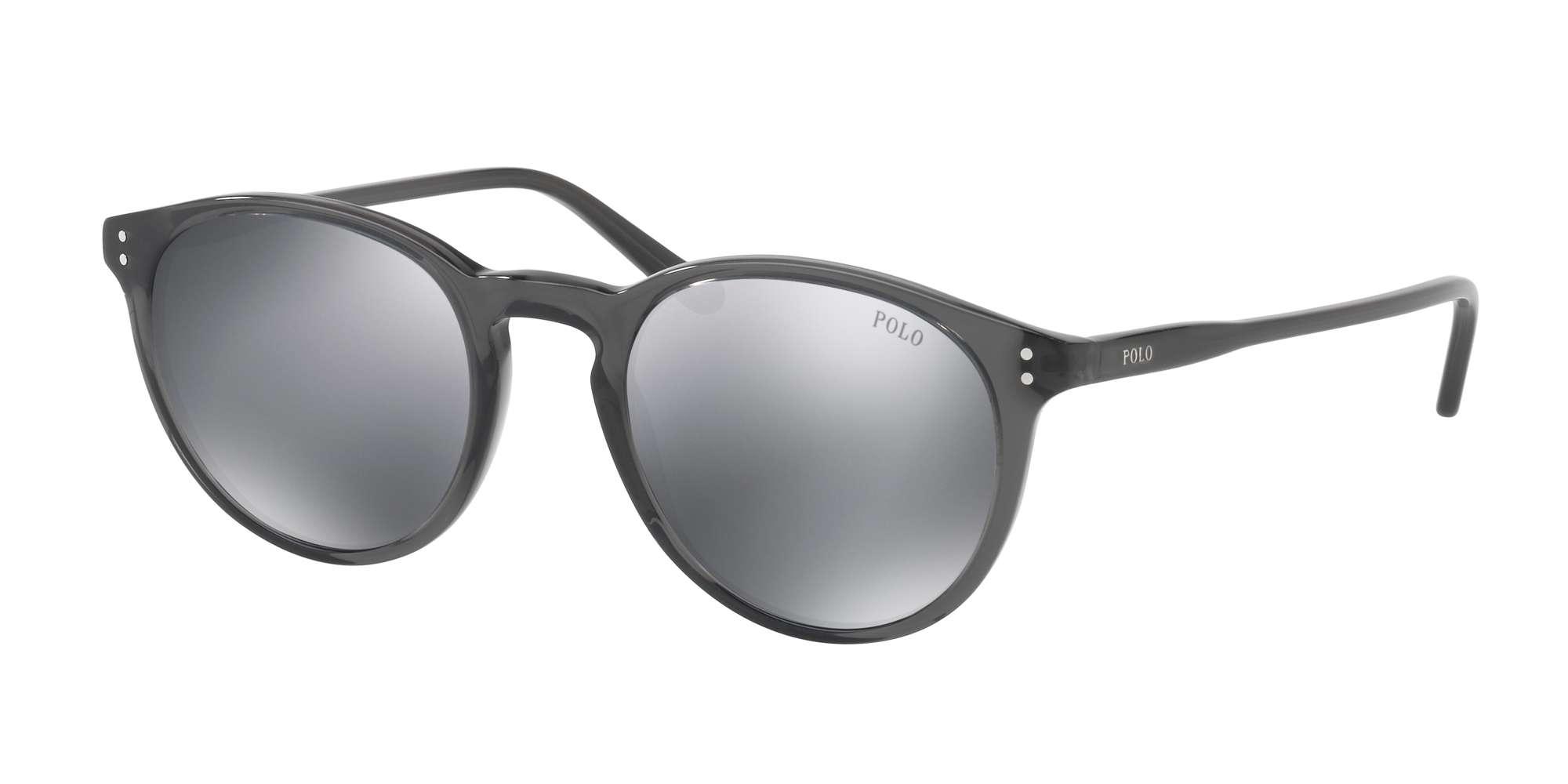 SHINY BLACK CRYSTAL / GREY MIRROR FLASH lenses