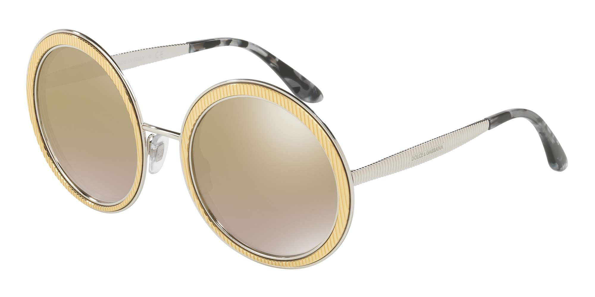 GOLD / LIGHT BROWN MIRROR GOLD lenses