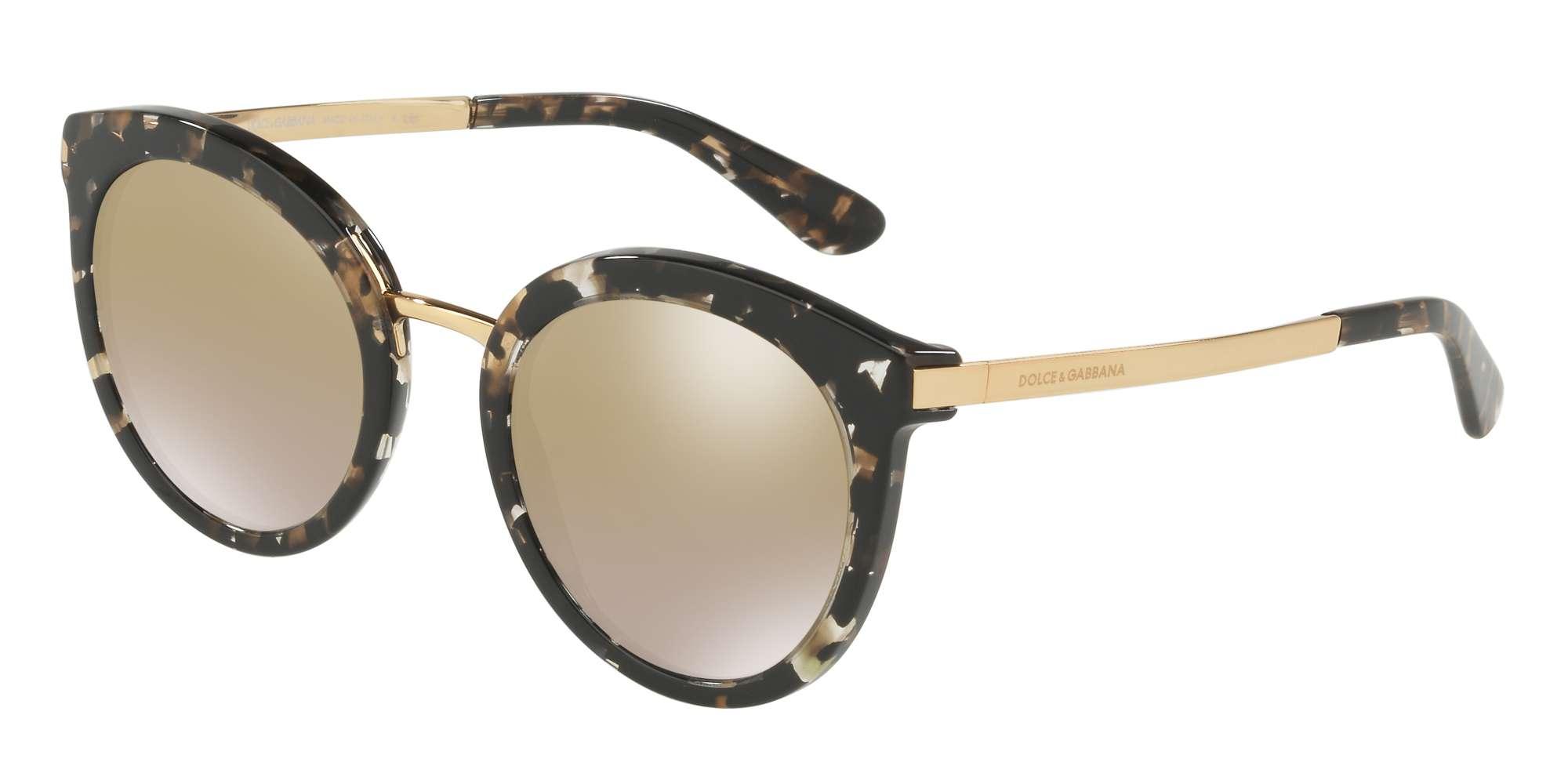 CUBE BLACK/GOLD / GRAD LIGHT BROWN MIRROR GOLD lenses