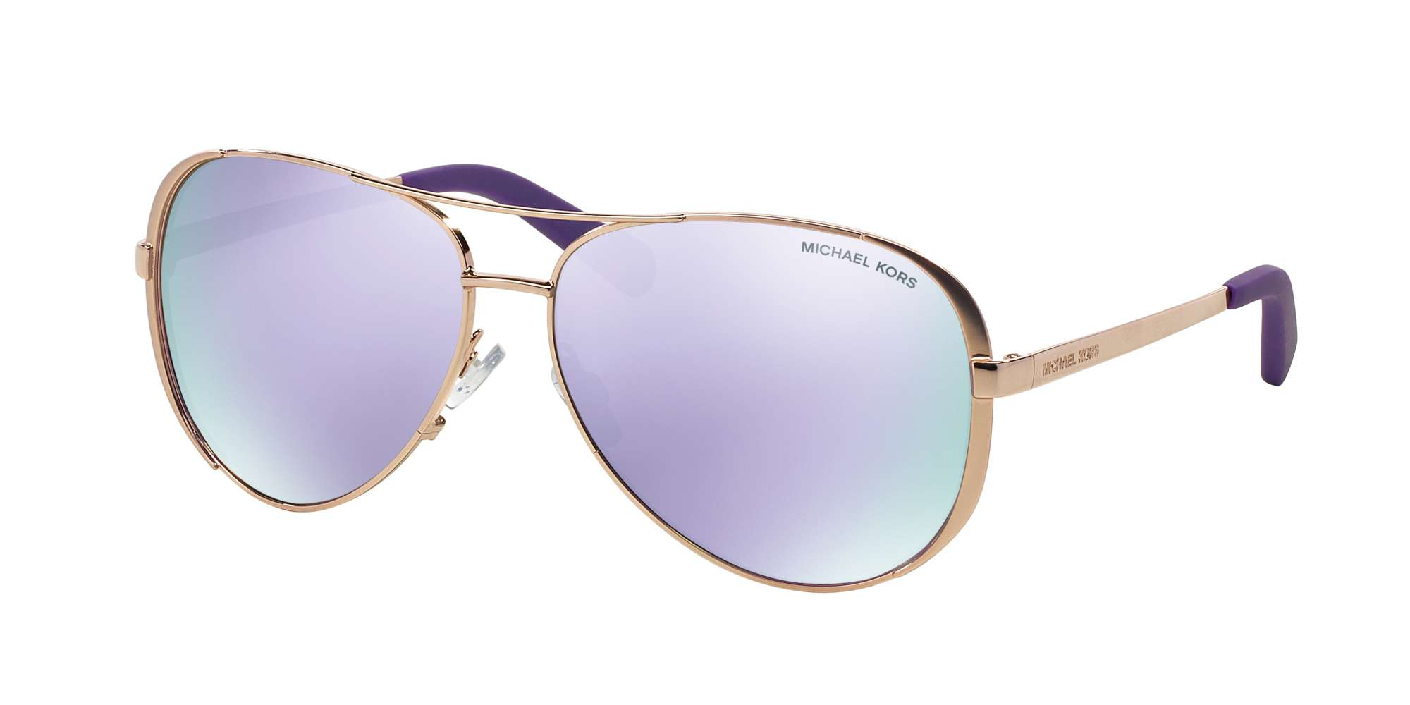 ROSE GOLD-TONE / PURPLE MIRROR lenses