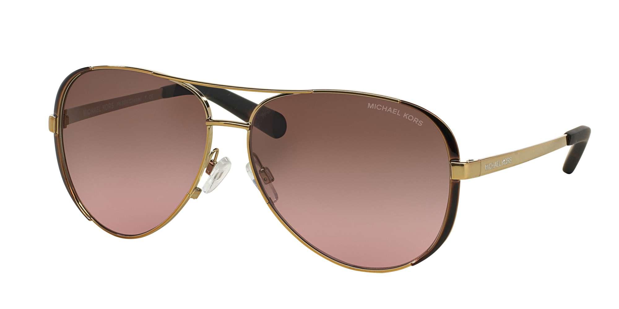 Gold - Dk Chocolate Brown / BROWN ROSE GRADIENT lenses