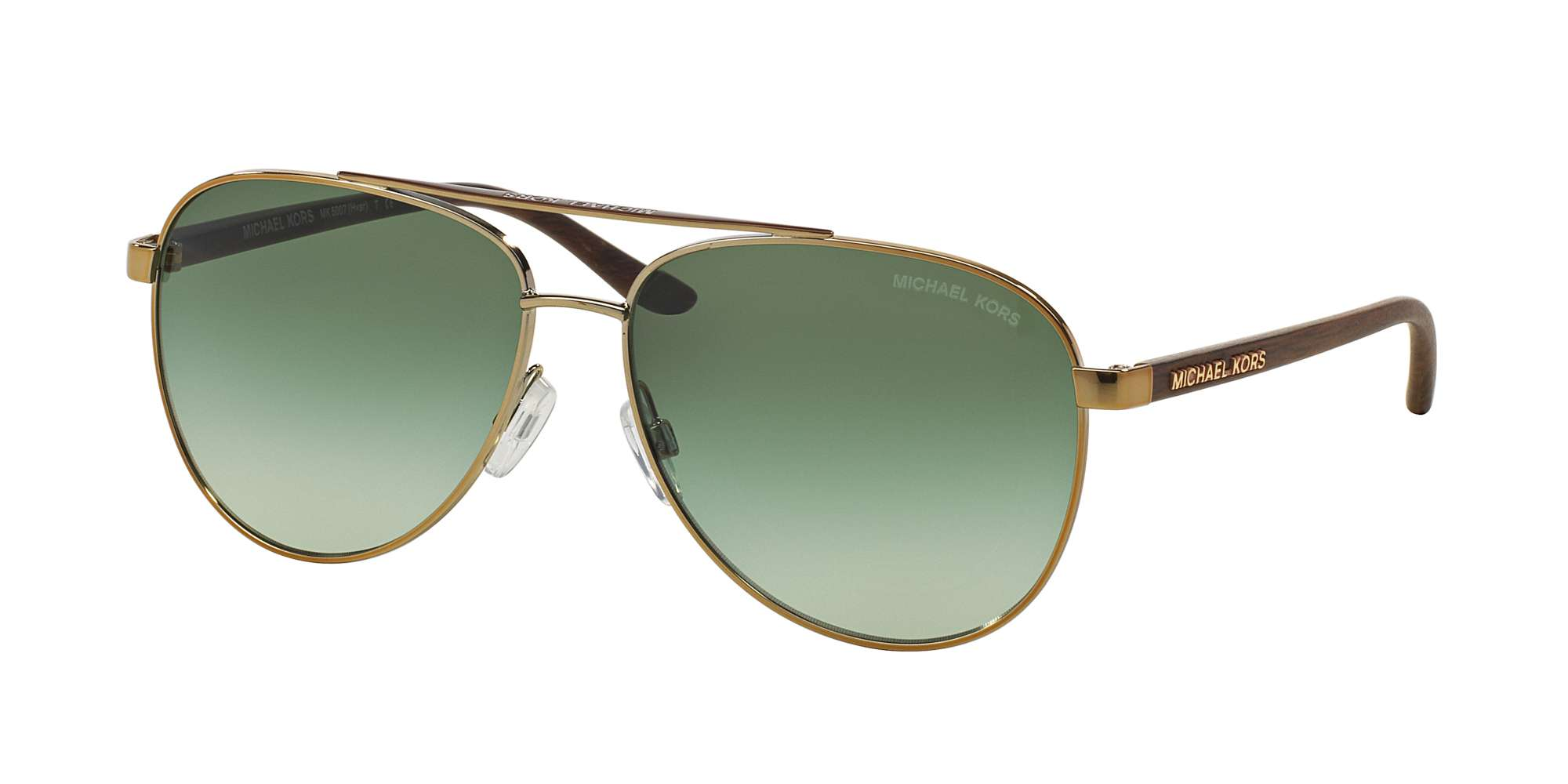 GOLD WOOD / GREEN GRADIENT lenses