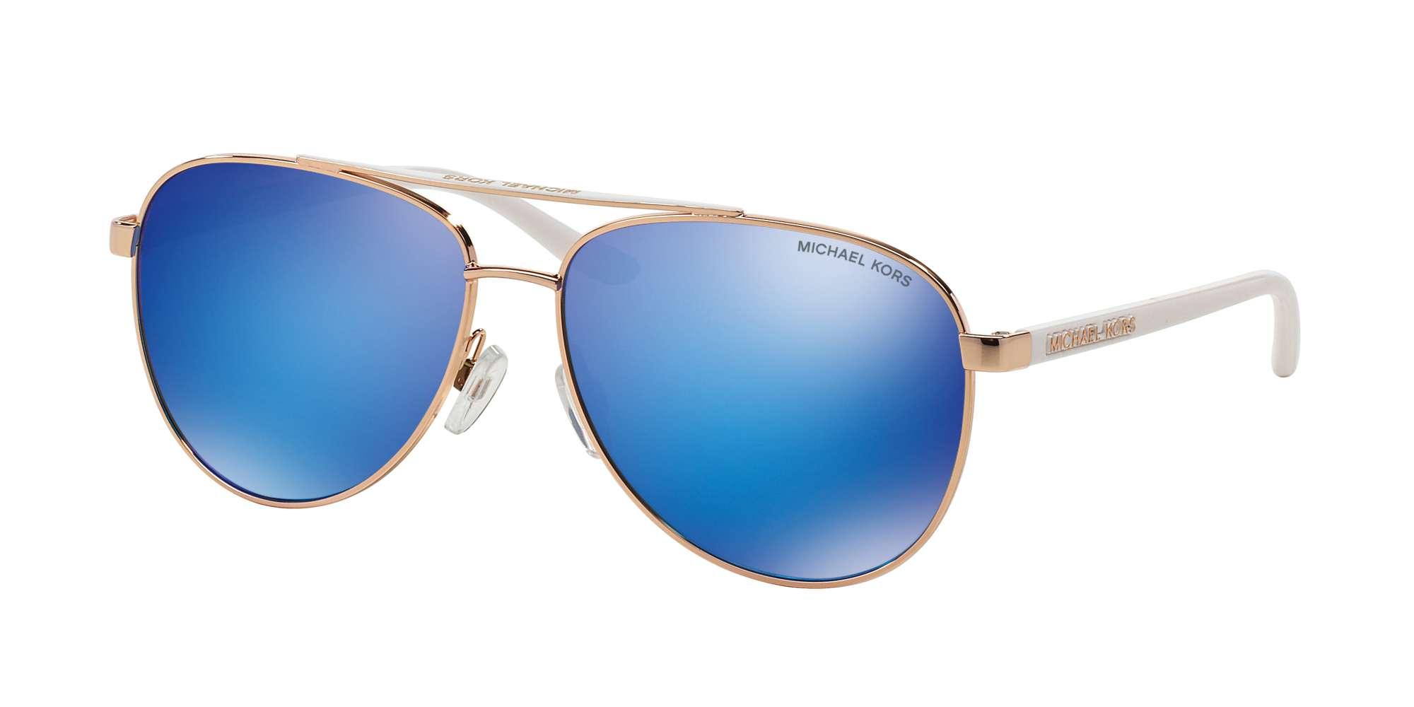 ROSE GOLD WHITE / BLUE MIRROR lenses