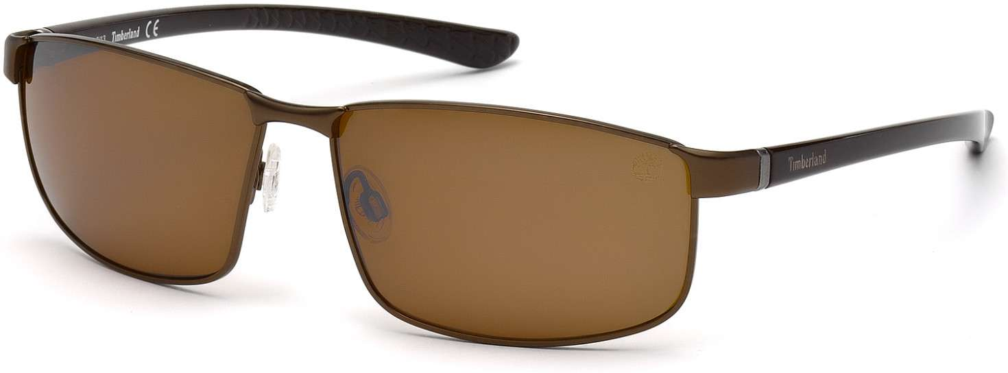 matte dark brown / brown polarized