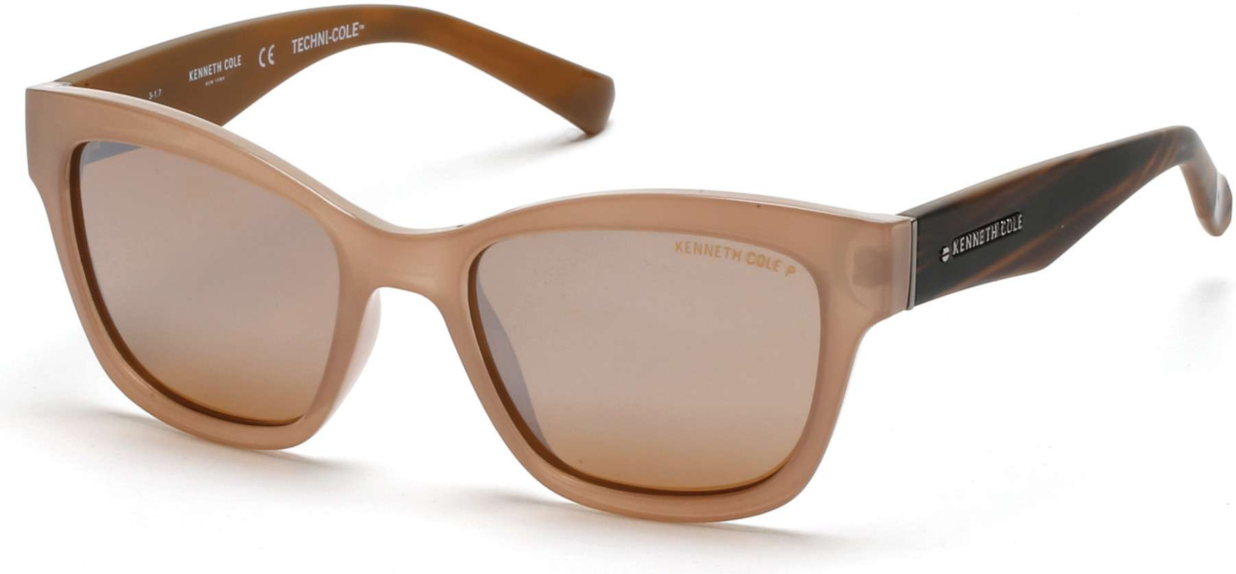 shiny light brown / brown polarized