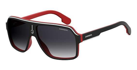 Matte Black Red / Dkgray Gradient lenses