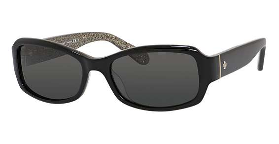 Black Glitter / Gray Polarized lenses