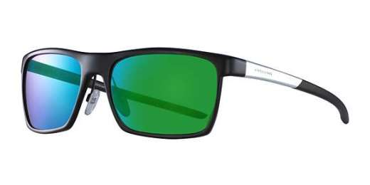 Mat Black-Silver / Green Mirror Lenses (610)