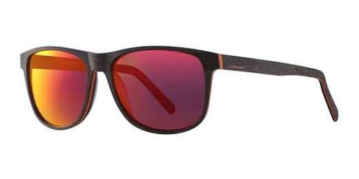 Mat Wood Brown-Orange / Red Mirror Lenses (6629)