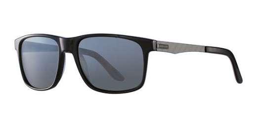 Shiny Black / Silver Mirror Lenses (8840)