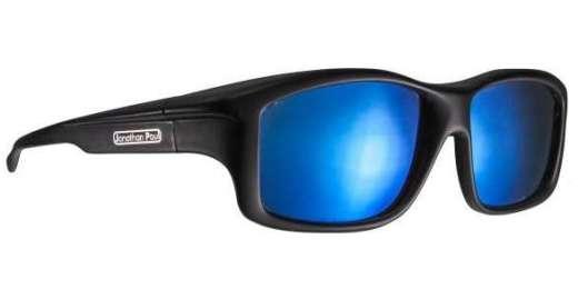 Satin Black / Polycarbonate Blue Mirror (YM001BM)