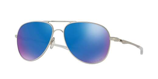 SATIN CHROME / SAPPHIRE IRIDIUM POLARIZED lenses