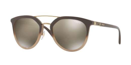 OPAL BROWN GRADIENT BROW / LIGHT BROWN MIRROR DARK GOLD lenses