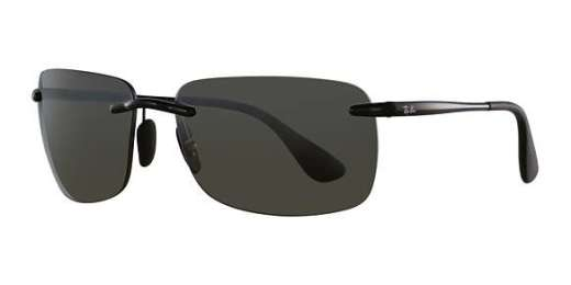 SHINY BLACK / GREY MIRROR SILVER POLAR lenses
