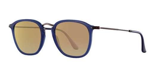 TRASPARENT BLUE / COPPER FLASH GRADIENT lenses