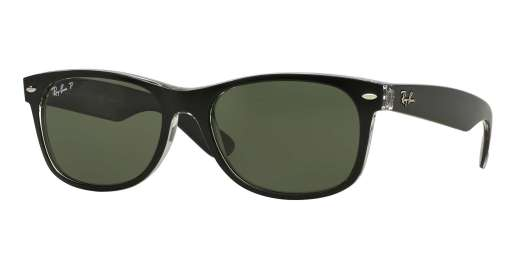 TOP BLACK ON TRANSPARENT / GREEN POLAR lenses