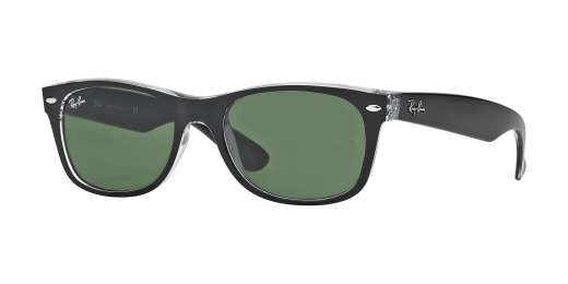 TOP BLACK ON TRANSPARENT / GREEN lenses