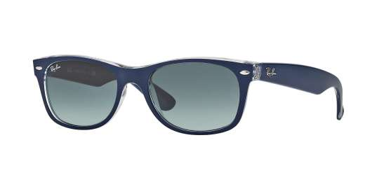 Top Matte Blue On Trasparent / GREY GRADIENT lenses