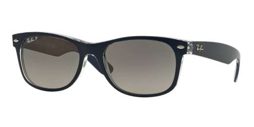 TOP BLUE ON TRANSPARENT / GRADIENT GREY POLAR lenses