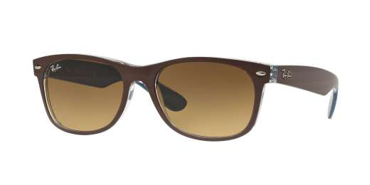 TOP MT CHOCOLATE ON BLUE / LIGHT BROWN GRAD DARK BROWN lenses