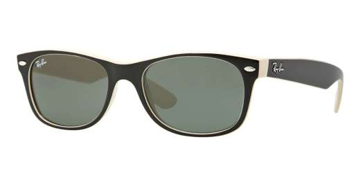 TOP BLACK ON BEIGE / CRYSTAL GREEN lenses