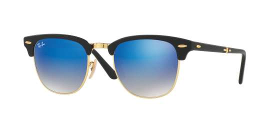 MATTE BLACK / BLU FLASH GRADIENT lenses