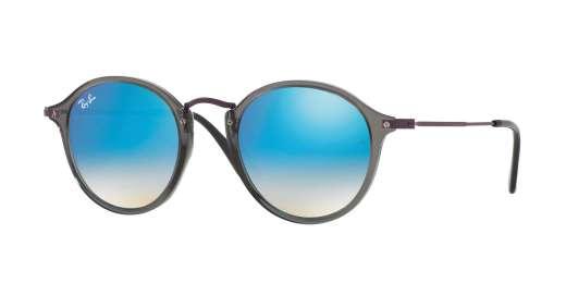 TRASPARENT GREY / BLUE FLASH GRADIENT lenses