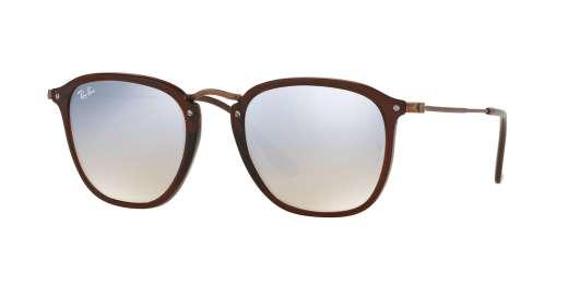 SHINY TRASPARENT BROWN / GREY FLASH GRADIENT lenses