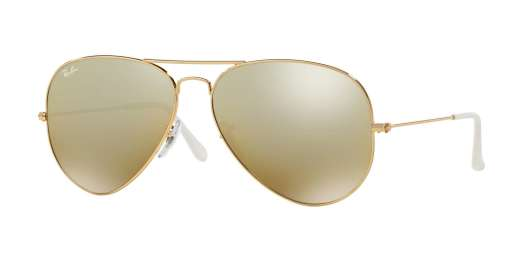 GOLD / Crystal Brown Mirror Silver Gradiant lenses