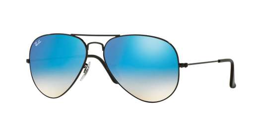 SHINY BLACK / MIRROR GRADIENT BLUE lenses