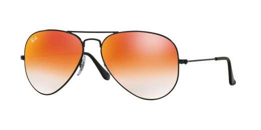SHINY BLACK / MIRROR GRADIENT RED lenses