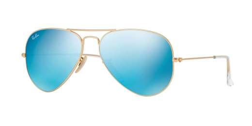 MATTE GOLD / Crystal Green Mirror Multiple Blue lenses