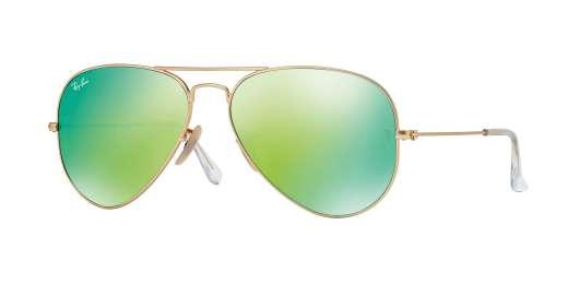 MATTE GOLD / Crystal Green Mirror Multiple Green lenses