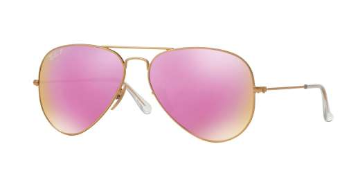 MATTE GOLD / BROWN MIRROR FUCSIA POLAR lenses
