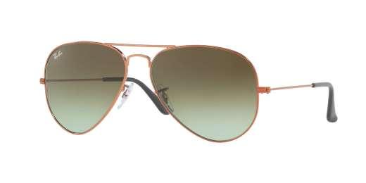 SHINY MEDIUM BRONZE / GREEN GRADIENT BROWN lenses