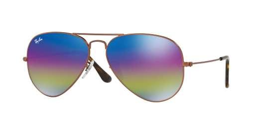 METALLIC DARK BRONZE / LIGHT GREY MIRROR RAINBOW 2 lenses