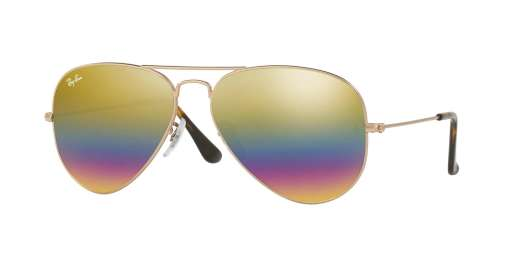 METALLIC LIGHT BRONZE / LIGHT GREY MIRROR RAINBOW 3 lenses