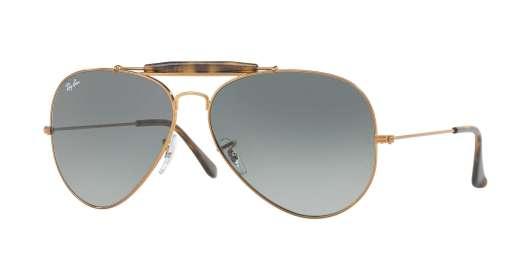 SHINY BRONZE / LIGHT GREY GRADIENT DARK GREY lenses
