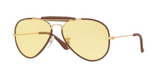 LEATHER LIGHT BROWN / YELLOW lenses
