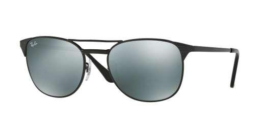 SHINY BLACK / MIRROR GREY lenses