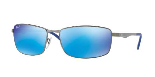 MATTE GUNMETAL / GREEN MIRROR BLUE POLAR lenses