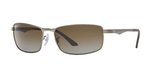 MATTE GUNMETAL / GREY GRADIENT BROWN POLAR lenses