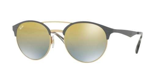 GOLD/MATTE GREY / GREEN MIRROR SLVER GRAD GOLD lenses