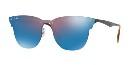 DEMI GLOS BLACK / DARK VIOLET MIRROR BLUE lenses