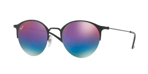 BLACK/MATTE BLACK / GREEN MIRROR BLUE GRADIENT VIO lenses
