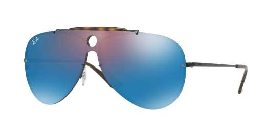 DEMIGLOS BLACK / DARK VIOLET MIRROR BLUE lenses